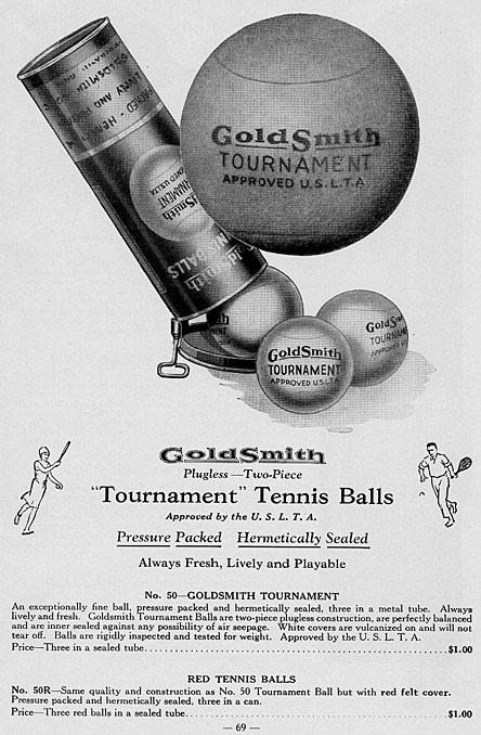 1932 Tournament Tennis Balls