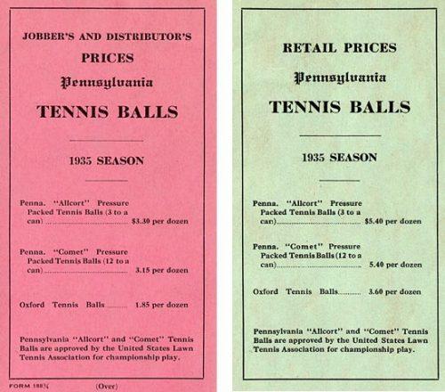 1935 Price Cards